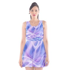 Abstract Graphic Design Background Scoop Neck Skater Dress