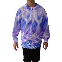 Abstract Graphic Design Background Hooded Wind Breaker (Kids)