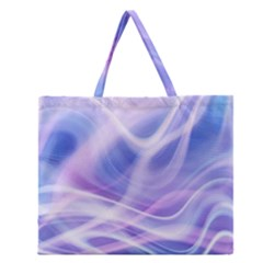 Abstract Graphic Design Background Zipper Large Tote Bag