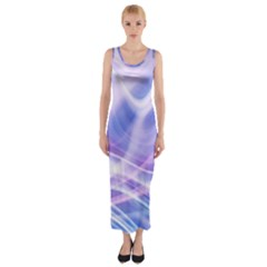 Abstract Graphic Design Background Fitted Maxi Dress