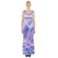 Abstract Graphic Design Background Maxi Thigh Split Dress