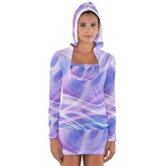 Abstract Graphic Design Background Women s Long Sleeve Hooded T-shirt
