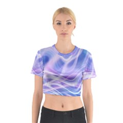 Abstract Graphic Design Background Cotton Crop Top