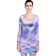 Abstract Graphic Design Background Long Sleeve Velvet Bodycon Dress