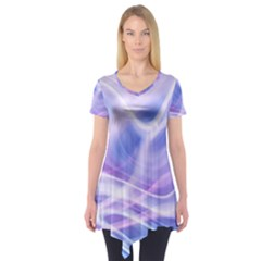 Abstract Graphic Design Background Short Sleeve Tunic