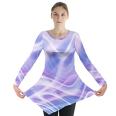 Abstract Graphic Design Background Long Sleeve Tunic