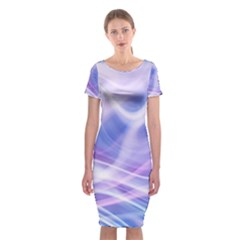 Abstract Graphic Design Background Classic Short Sleeve Midi Dress