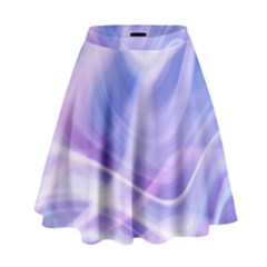 Abstract Graphic Design Background High Waist Skirt