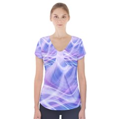 Abstract Graphic Design Background Short Sleeve Front Detail Top