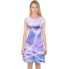 Abstract Graphic Design Background Capsleeve Midi Dress