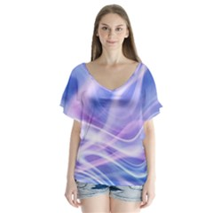 Abstract Graphic Design Background Flutter Sleeve Top