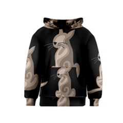 Brown abstract cat Kids  Pullover Hoodie