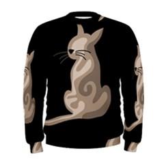 Brown abstract cat Men s Sweatshirt