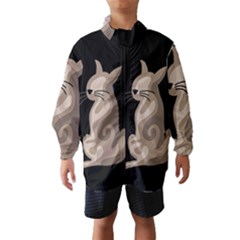 Brown abstract cat Wind Breaker (Kids)