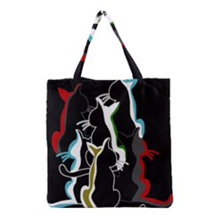 Street cats Grocery Tote Bag
