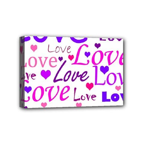 Love pattern Mini Canvas 6  x 4