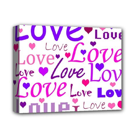 Love pattern Deluxe Canvas 14  x 11