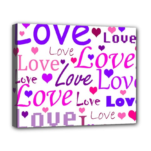Love pattern Deluxe Canvas 20  x 16
