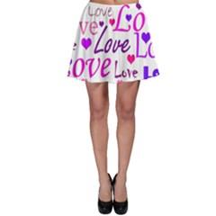 Love pattern Skater Skirt