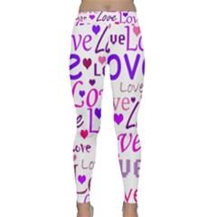 Love pattern Classic Yoga Leggings