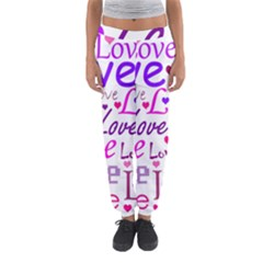 Love pattern Women s Jogger Sweatpants