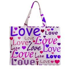 Love pattern Zipper Mini Tote Bag
