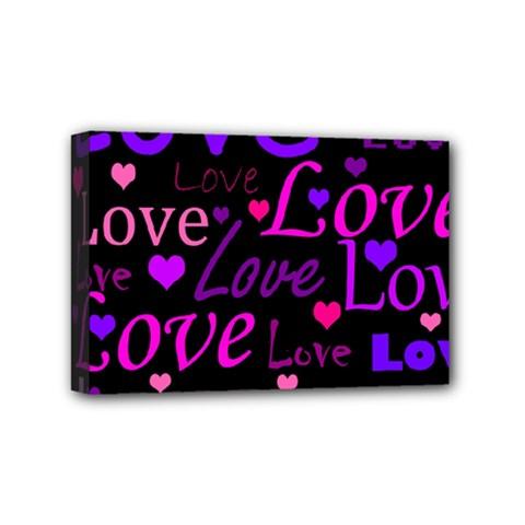 Love pattern 2 Mini Canvas 6  x 4