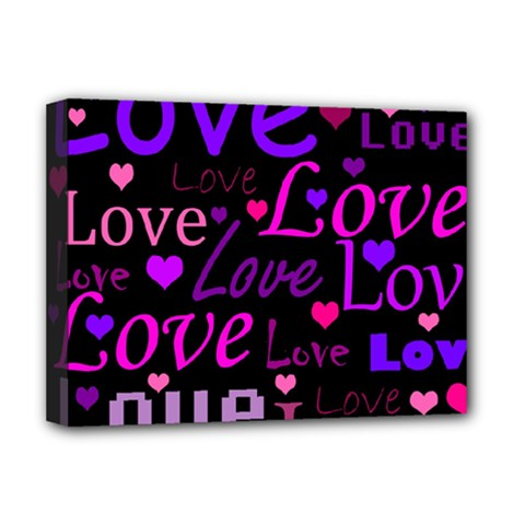 Love pattern 2 Deluxe Canvas 16  x 12