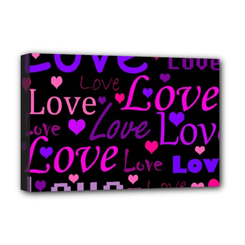 Love pattern 2 Deluxe Canvas 18  x 12