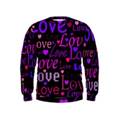 Love pattern 2 Kids  Sweatshirt