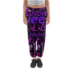 Love pattern 2 Women s Jogger Sweatpants
