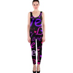 Love pattern 2 OnePiece Catsuit