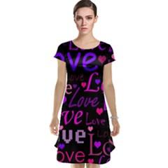 Love pattern 2 Cap Sleeve Nightdress