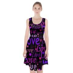 Love pattern 2 Racerback Midi Dress