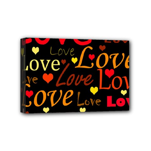 Love pattern 3 Mini Canvas 6  x 4