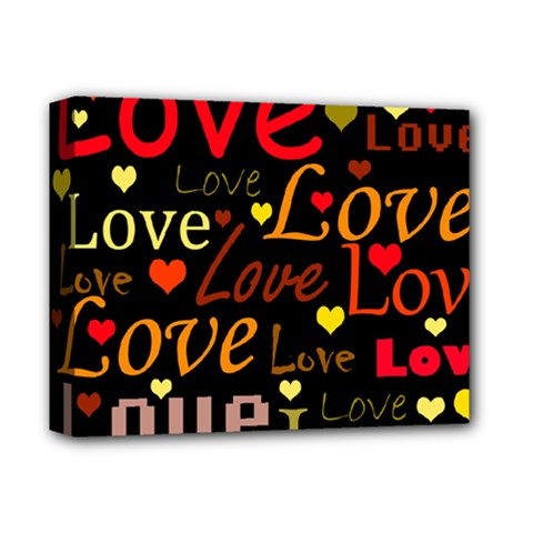 Love pattern 3 Deluxe Canvas 14  x 11