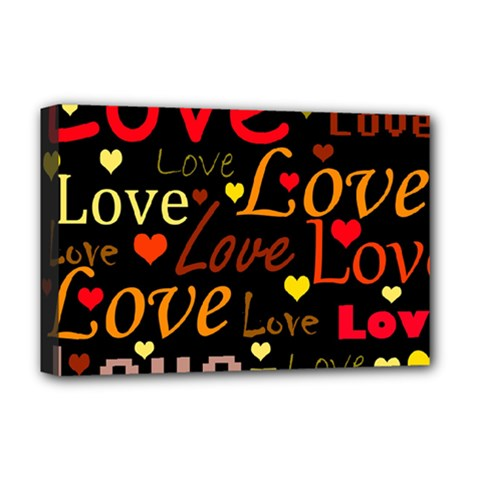 Love pattern 3 Deluxe Canvas 18  x 12
