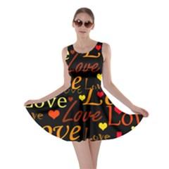 Love pattern 3 Skater Dress