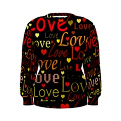 Love pattern 3 Women s Sweatshirt