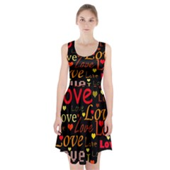 Love pattern 3 Racerback Midi Dress