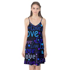 Blue love pattern Camis Nightgown