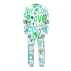 Love pattern - green and blue OnePiece Jumpsuit (Kids)
