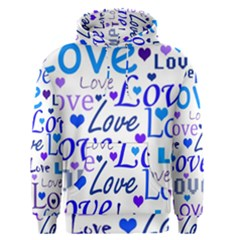 Blue and purple love pattern Men s Pullover Hoodie