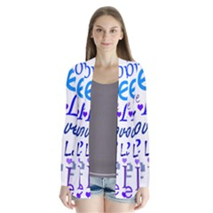 Blue and purple love pattern Cardigans