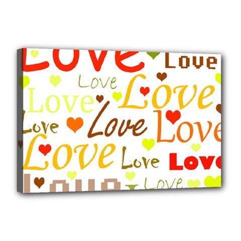 Valentine s day pattern Canvas 18  x 12