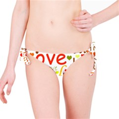 Valentine s day pattern Bikini Bottom