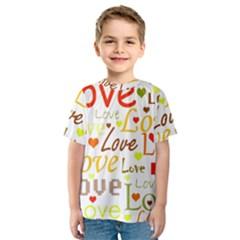 Valentine s day pattern Kids  Sport Mesh Tee