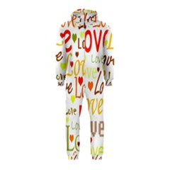Valentine s day pattern Hooded Jumpsuit (Kids)