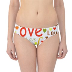 Valentine s day pattern Hipster Bikini Bottoms