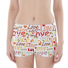 Valentine s day pattern Boyleg Bikini Wrap Bottoms